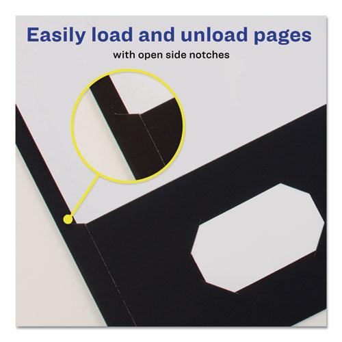 Two-Pocket Folder, 40-Sheet Capacity, Black, 25/Box. Picture 5
