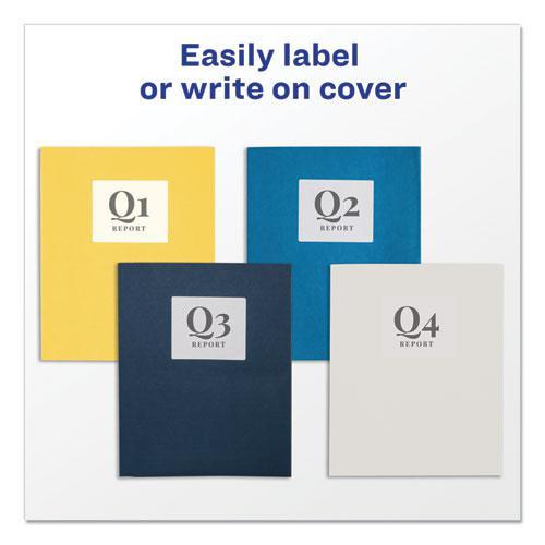 Two-Pocket Folder, 40-Sheet Capacity, Yellow, 25/Box. Picture 5