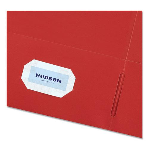 Two-Pocket Folder, 40-Sheet Capacity, Red, 25/Box. Picture 4
