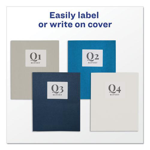 Two-Pocket Folder, 40-Sheet Capacity, White, 25/Box. Picture 7