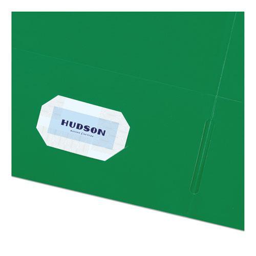 Two-Pocket Folder, 40-Sheet Capacity, Green, 25/Box. Picture 5