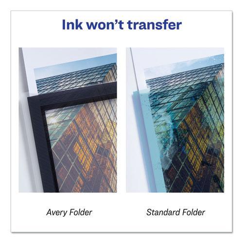Flexi-View Two-Pocket Polypropylene Folder, Translucent/Black, 2/Pack. Picture 6