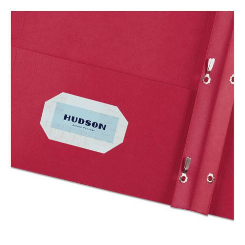 """Two-Pocket Folder, Prong Fastener, Letter, 1/2"""" Capacity, Red, 25/Box. Picture 2"""