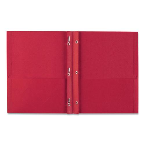 """Two-Pocket Folder, Prong Fastener, Letter, 1/2"""" Capacity, Red, 25/Box. Picture 6"""