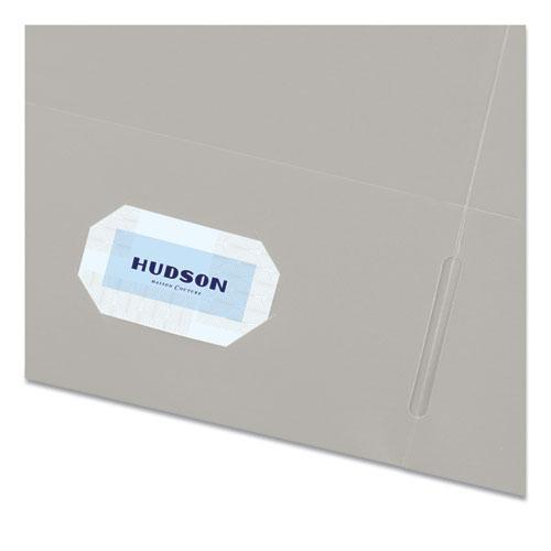 Two-Pocket Folder, 40-Sheet Capacity, Gray, 25/Box. Picture 3