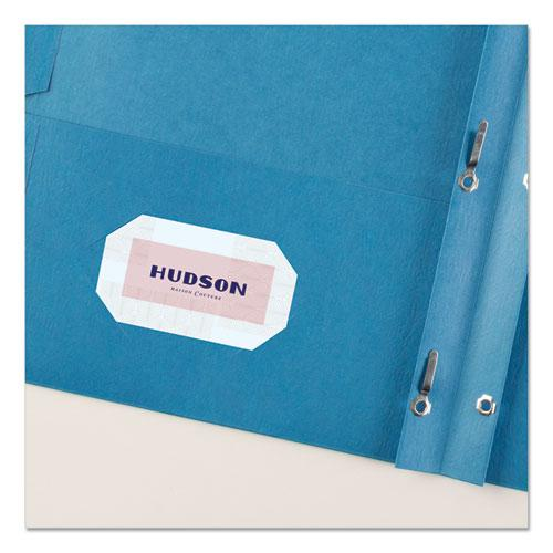 "Two-Pocket Folder, Prong Fastener, Letter, 1/2"" Capacity, Light Blue, 25/Box. Picture 7"