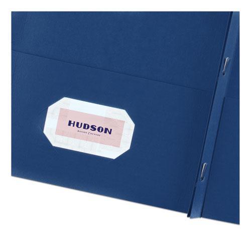 "Two-Pocket Folder, Prong Fastener, Letter, 1/2"" Capacity, Dark Blue, 25/Box. Picture 6"