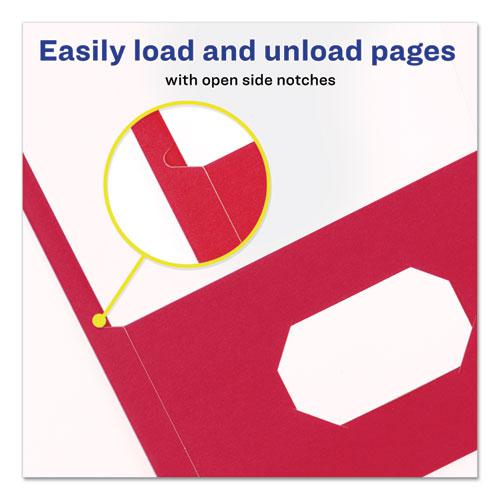 """Two-Pocket Folder, Prong Fastener, Letter, 1/2"""" Capacity, Red, 25/Box. Picture 7"""