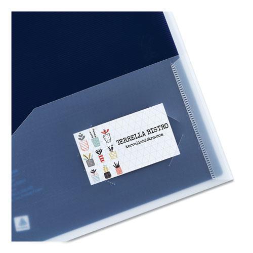 Flexi-View Two-Pocket Polypropylene Folder, Translucent/Navy, 2/Pack. Picture 2
