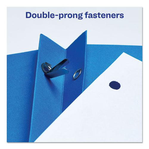 "Two-Pocket Folder, Prong Fastener, Letter, 1/2"" Capacity, Light Blue, 25/Box. Picture 5"