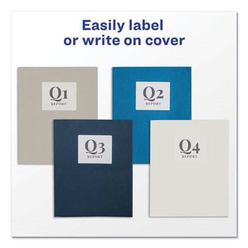 Two-Pocket Folder, 40-Sheet Capacity, Gray, 25/Box. Picture 6