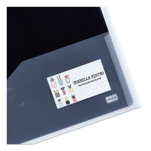 Flexi-View Two-Pocket Polypropylene Folder, Translucent/Black, 2/Pack. Picture 2