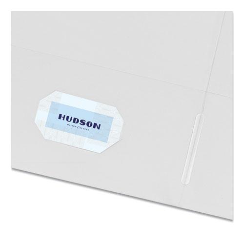 Two-Pocket Folder, 40-Sheet Capacity, White, 25/Box. Picture 4
