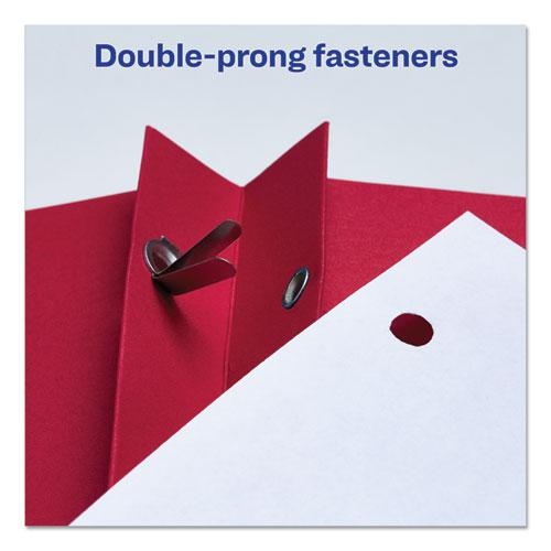 """Two-Pocket Folder, Prong Fastener, Letter, 1/2"""" Capacity, Red, 25/Box. Picture 8"""