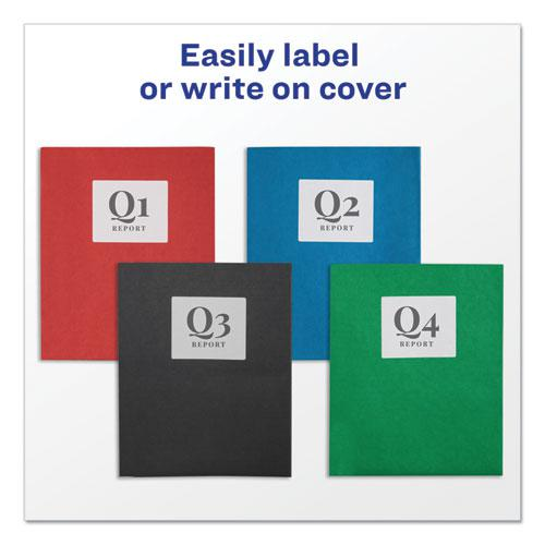 Two-Pocket Folder, 40-Sheet Capacity, Assorted Colors, 25/Box. Picture 2