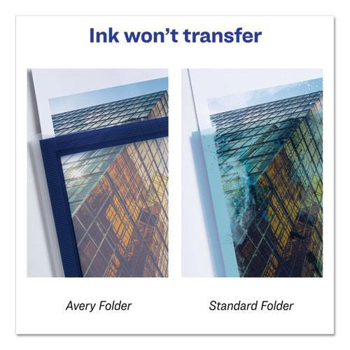 Flexi-View Two-Pocket Polypropylene Folder, Translucent/Navy, 2/Pack. Picture 6