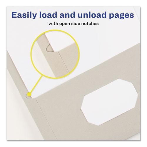 Two-Pocket Folder, 40-Sheet Capacity, Gray, 25/Box. Picture 4