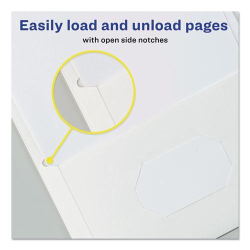 Two-Pocket Folder, 40-Sheet Capacity, White, 25/Box. Picture 5