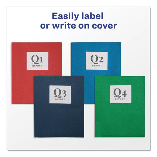 Two-Pocket Folder, 40-Sheet Capacity, Red, 25/Box. Picture 2