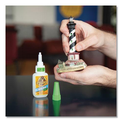 Super Glue Gel, 0.53 oz, Dries Clear, 4/Carton. Picture 14