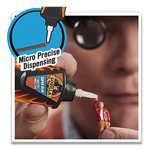Super Glue Micro Precise, 0.19 oz, Dries Clear, 4/Carton. Picture 2