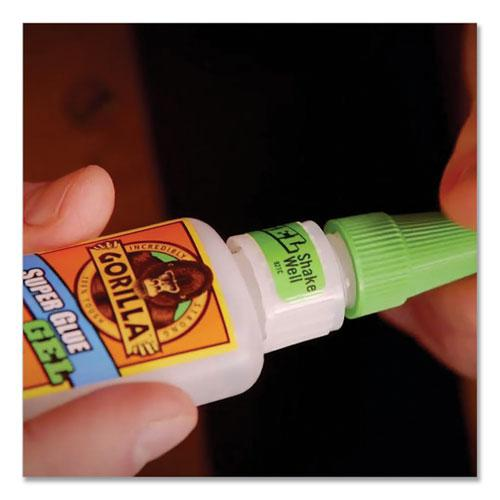 Super Glue Gel, 0.53 oz, Dries Clear, 4/Carton. Picture 12