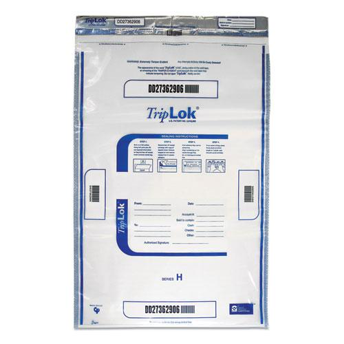 Deposit Bag, 19 x 23, 4 mil Thick, Plastic, Clear, 50/Pack. Picture 1