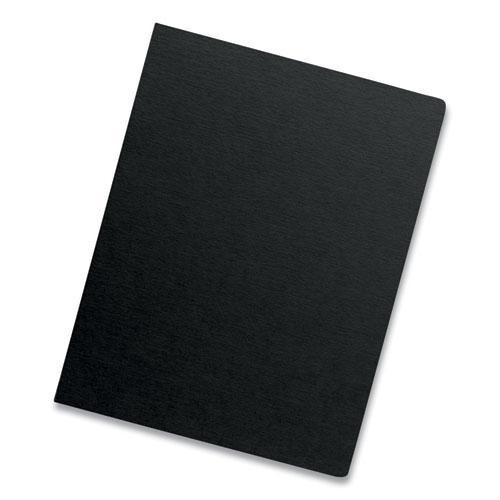 Futura Binding System Covers, Round Corners, 11 1/4 x 8 3/4, Black, 25/Pack. Picture 3