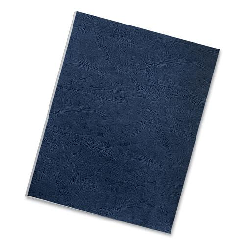 Classic Grain Texture Binding System Covers, 11 x 8-1/2, Navy, 50/Pack. Picture 3