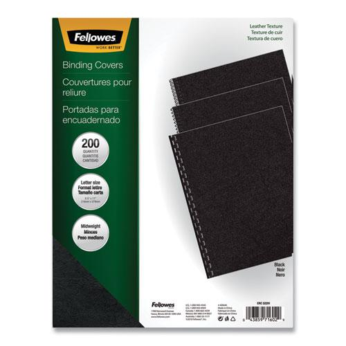 Executive Leather-Like Presentation Cover, Square, 11 x 8 1/2, Black, 200/PK. Picture 1