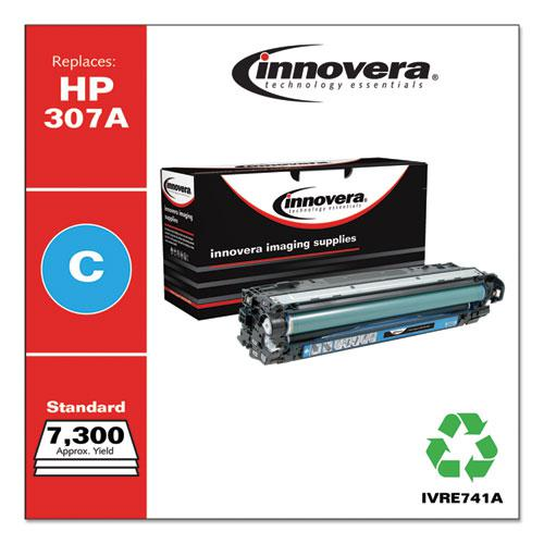 Remanufactured Cyan Toner, Replacement for HP 307A (CE741A), 7,300 Page-Yield. Picture 2