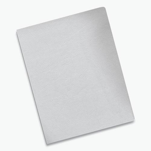Classic Grain Texture Binding System Covers, 11-1/4 x 8-3/4, White, 200/Pack. Picture 3