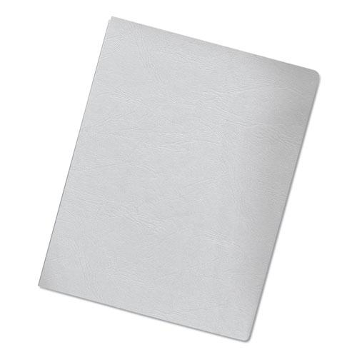Classic Grain Texture Binding System Covers, 11-1/4 x 8-3/4, White, 200/Pack. Picture 4