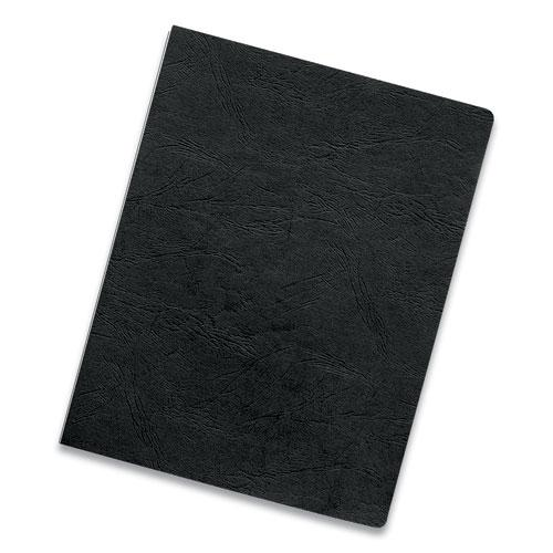 Executive Leather-Like Presentation Cover, Square, 11 x 8 1/2, Black, 200/PK. Picture 3