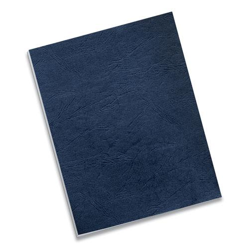 Classic Grain Texture Binding System Covers, 11 x 8-1/2, Navy, 50/Pack. Picture 5
