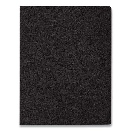 Executive Leather-Like Presentation Cover, Square, 11 x 8 1/2, Black, 200/PK. Picture 4