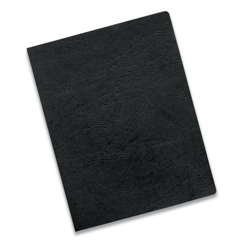 Executive Leather-Like Presentation Cover, Round, 11-1/4 x 8-3/4, Black, 50/PK. Picture 2