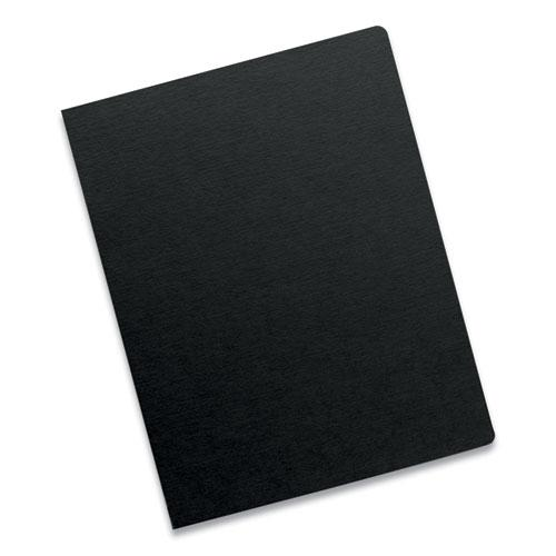 Futura Binding System Covers, Round Corners, 11 1/4 x 8 3/4, Black, 25/Pack. Picture 2