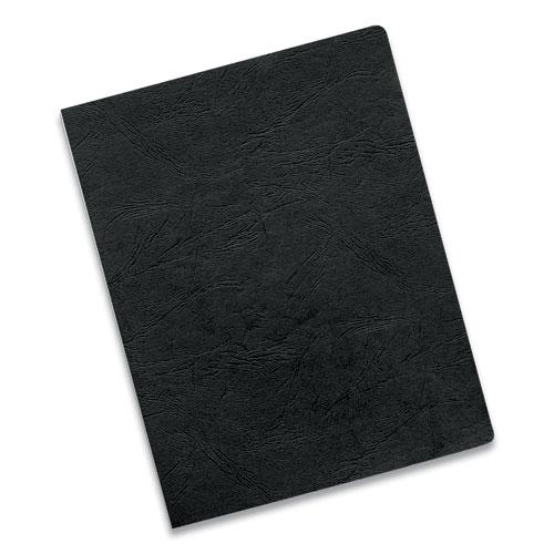 Executive Leather-Like Presentation Cover, Round, 11-1/4 x 8-3/4, Black, 200/PK. Picture 5