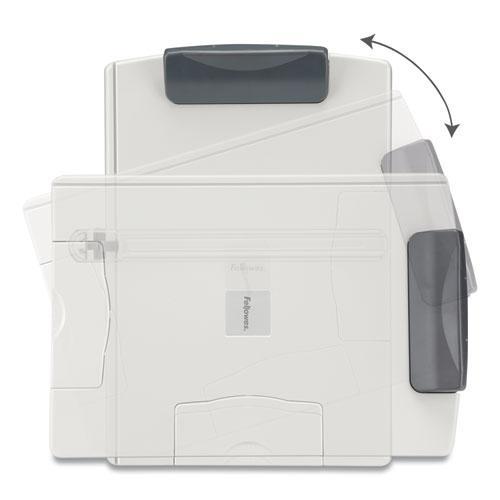 Desktop Easel-Style Copyholder, Plastic, 150 Sheet Capacity, Platinum/Gray. Picture 3