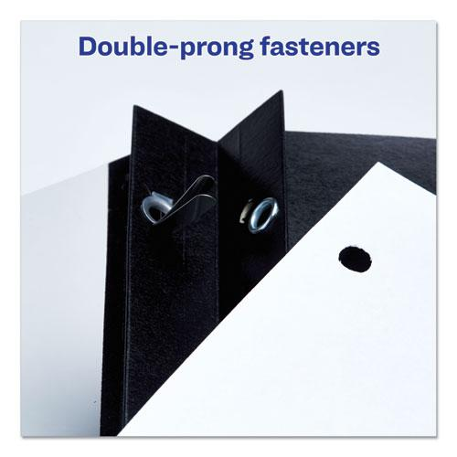 """Durable Clear Front Report Cover w/Prong Fasteners, 1/8"""" Cap, Clear/Black, 25/BX. Picture 5"""