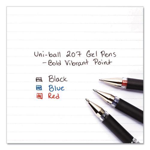 207 Impact Stick Gel Pen, Bold 1mm, Red Ink, Black Barrel. Picture 3