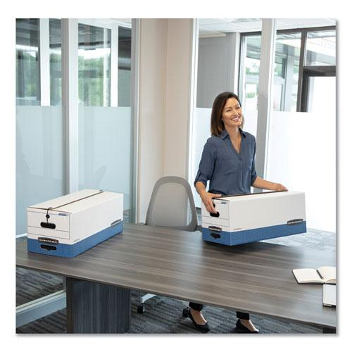 """STOR/FILE Medium-Duty Strength Storage Boxes, Letter Files, 12.25"""" x 24.13"""" x 10.75"""", White/Blue, 12/Carton. Picture 7"""