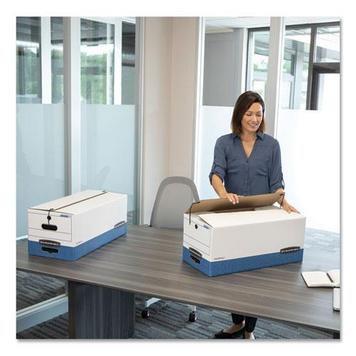 "LIBERTY Heavy-Duty Strength Storage Boxes, Letter Files, 12.25"" x 24.13"" x 10.75"", White/Blue, 4/Carton. Picture 2"