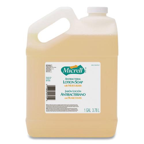 Antibacterial Lotion Soap, Light Scent, 1 gal Bottle, 4/Carton. Picture 1