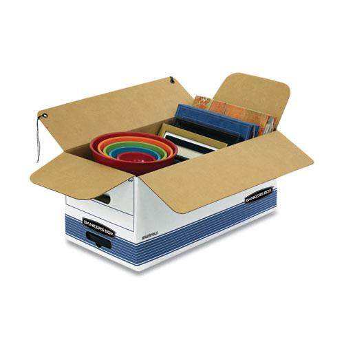 """STOR/FILE Medium-Duty Strength Storage Boxes, Letter Files, 12.25"""" x 24.13"""" x 10.75"""", White/Blue, 12/Carton. Picture 2"""
