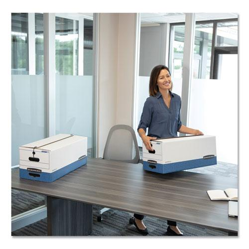 "STOR/FILE Medium-Duty Strength Storage Boxes, Legal Files, 15.25"" x 24.13"" x 10.75"", White/Blue, 12/Carton. Picture 7"