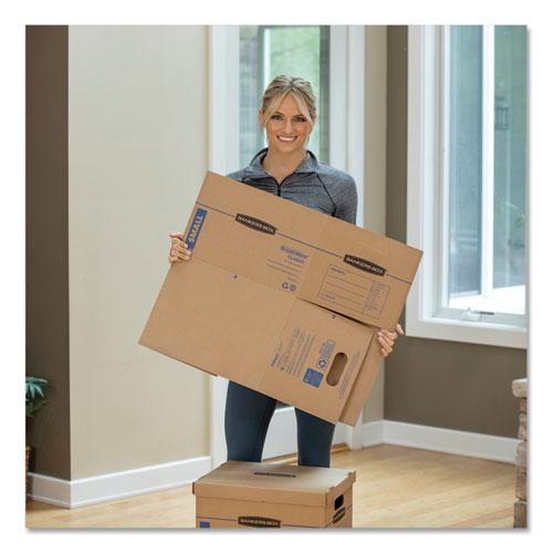"""SmoothMove Classic Moving & Storage Boxes, Small, Half Slotted Container (HSC), 15"""" x 12"""" x 10"""", Brown Kraft/Blue, 20/Carton. Picture 7"""