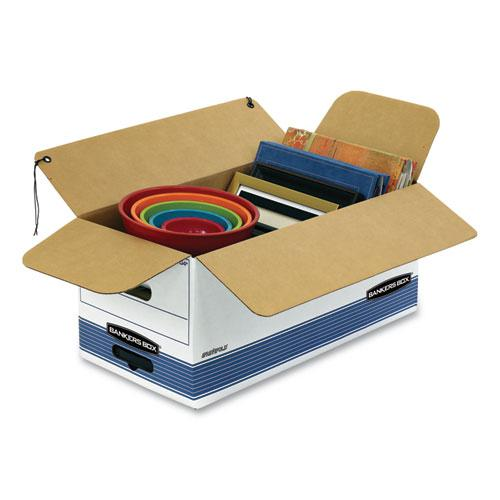 """STOR/FILE Medium-Duty Strength Storage Boxes, Letter Files, 12.25"""" x 24.13"""" x 10.75"""", White/Blue, 4/Carton. Picture 3"""