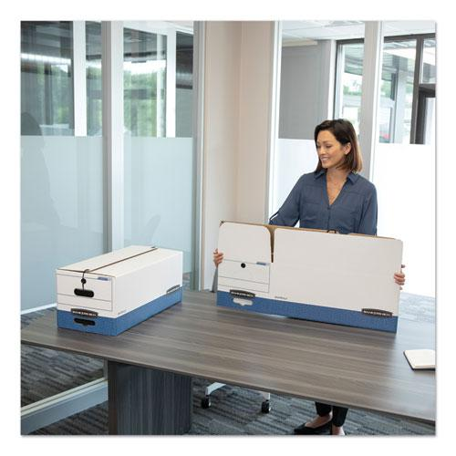 """LIBERTY Heavy-Duty Strength Storage Boxes, Letter Files, 12.25"""" x 24.13"""" x 10.75"""", White/Blue, 12/Carton. Picture 4"""